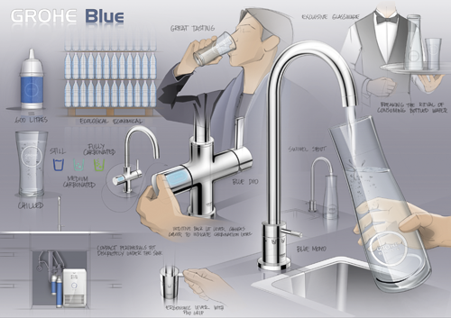 the chicago athenaeum grohe blue mono water filtration system 2012 designers grohe ag. Black Bedroom Furniture Sets. Home Design Ideas